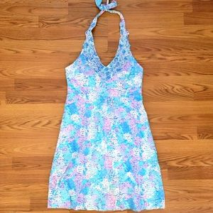 Lilly Pulitzer floral halter dress in large